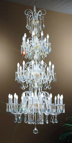 Three Tier Lead Crystal Chandelier, £6,801.60. WOW! For more information please visit: http://www.italian-lighting-centre.co.uk/crystal-glass-chandeliers/three-tier-lead-crystal-chandelier-p-1129.html
