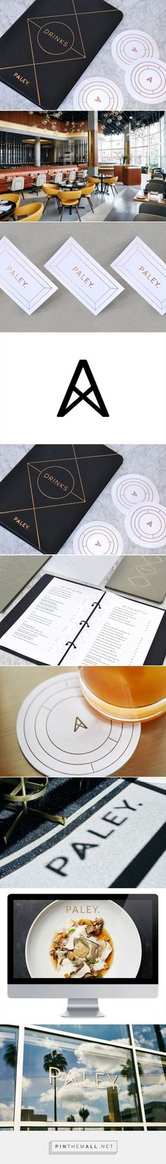 New Logo & Brand Identity for Paley by Mucca — BP&O... - a grouped images picture / Branding / Idea / Inspiration / Brand / Design / Logo / Restaurant / Cafe / Geometric / Line Art / Minimalist / Black / Copper / White / Star / Elegant / Modern / Simple / Clean / Pentagram / Scandinavian / Nordic