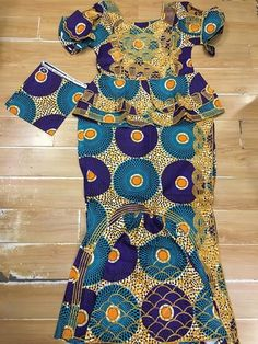 African Ankara Print Dress, Ankara Dress, Ankara Blouse and Wrapper Skirt, Long Dress, African Dress, Shaped Ankara Dress, African Fashion, African Clothing, short top with wrapper and scarf 3pieces/set For women
