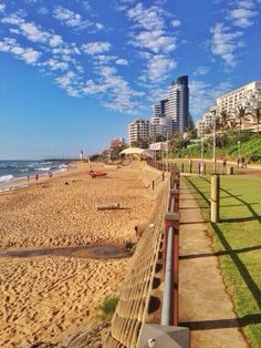 Umhlanga Beach, Durban, South Africa Beach near by Places To Travel, Places To Visit, Durban South Africa, Out Of Africa, Africa Art, Namibia, Kwazulu Natal, North Coast, Beautiful Places In The World