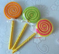Felt Food Felt Lollipops eco friendly children by decocarin