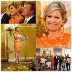 22-05-2014  Queen Maxima at palace Noordeinde in The Hague for the Appeltjes van Oranje 2014.