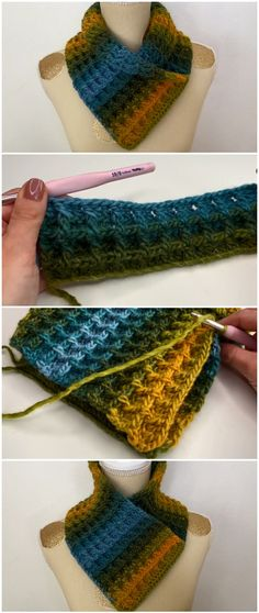 Most up-to-date Free of Charge Crochet scarf cowl Tips Gehäkelter Schal Cowl Waffle Stitch, Stitch Crochet, Knit Or Crochet, Crochet Scarves, Crochet Crafts, Crochet Clothes, Crochet Stitches, Free Crochet, Easy Crochet Patterns, Knitting Patterns