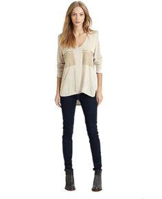 Purpura Erizo Womens Deep V-Neck Long Sleeve Beige T-Shirt,X-Small Purpura Erizo http://www.amazon.com/dp/B00JOWJ8IK/ref=cm_sw_r_pi_dp_cMmZvb0M2VPPN