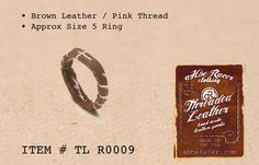 aR Threaded Leather, hand made leather goods