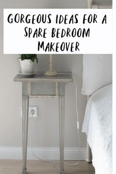 If you are wondering what to do with your pare bedroom we have a ton of m spare bedroom makeover ideas for you here - love a home makeover don't you? Spare Bedroom Makeover Ideas, Spare Bedroom Ideas On A Budget, Budget Bedroom, Home Hacks, Simple House, Home Renovation, Interior Design Living Room, Beautiful Space, Beautiful Homes
