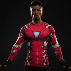 Iron Man Suit Long Sleeve Compression Shirt – Novelty Force - Grab now on SALE while supplies last!