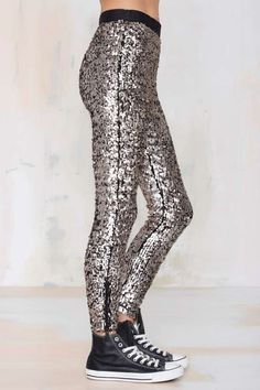 Nasty Gal Boogie Nights Sequin Leggings - Pants | Pants |  | Pants | Going Out Sale