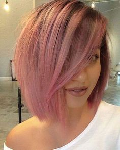 VISIT FOR MORE Sexy ombre Dark Root lace front pink bob wig The post Sexy ombre Dark Root lace front pink bob wig appeared first on kurzhaarfrisuren. Cabelo Rose Gold, Modern Bob Haircut, Haircuts For Fine Hair, Short Haircuts, Straight Haircuts, Hairstyles Haircuts, 2018 Haircuts, Medium Haircuts, Hairstyles Pictures