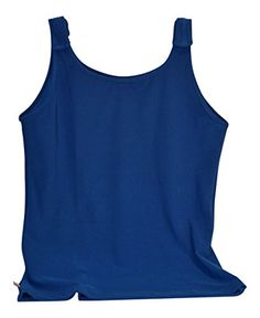 Breast Cancer Adjustable Tank Top by Tender Tanks XLarge Limoges Blue *** Click image to review more details.Note:It is affiliate link to Amazon.
