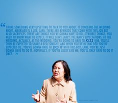 Gilmore Girls<3 My favorite Mrs. Kim quote