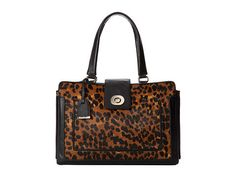 COLE HAAN LAFAYETTE NOVELTY CALF HAIR-LEATHER TOTE