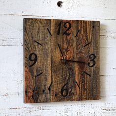 Rustic Barn Wood Clock Reclaimed Wood Clock Large Unique Wall Clocks Rustic Home Decor Wooden Clock Rustic Wall Clocks, Unique Wall Clocks, Wood Clocks, Reclaimed Wood Shelves, Reclaimed Barn Wood, Rustic Barn, Contemporary Barn, Large Clock, Wall Design