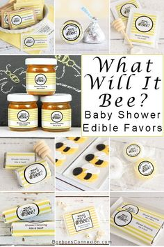Find delightful edible favors for your bee themed baby shower or gender reveal party. Personalized Baby Shower Gifts, Unique Baby Shower Favors, Baby Shower Party Favors, Baby Shower Parties, Baby Shower Themes, Baby Boy Shower, Baby Showers, Shower Ideas, Adoption Shower
