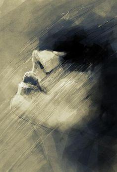 Watercolour, portrait, artist?