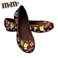 M'S Fashion Ballet Flats With Padded Insole And Heel. so cute! Cowboy Cupcakes, M&m Characters, M M Candy, Fashion Accessories, Fashion Jewelry, Favorite Candy, Only Shoes, Candy Gifts, Glass Slipper