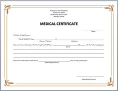 Medical Certificate Template 12 Service Certificate Templates  Free Word & Pdf  Office Work .