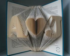 Folded Book Art-Gift for love ones-Regalo di by Meiorigami on Etsy