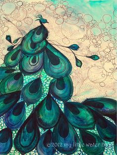 Peacock Watercolor Painting Peacock Art Bird by MyLittleWaterBird