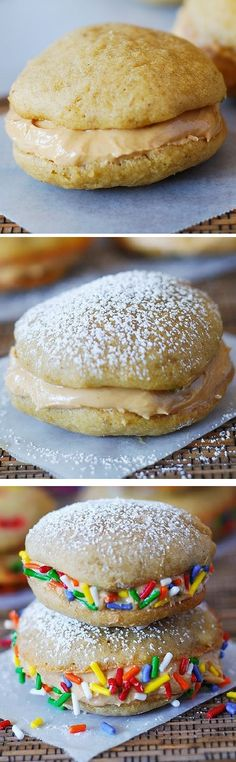 Banana & Greek Yogurt Whoopie Pies with Peanut Butter Filling # ...