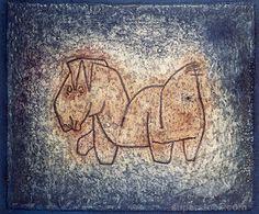 Paul Klee (1879-1940) De kinderlijke uitdrukking van zijn werk gebruikte Klee als kritiek op de conventie, hoewel het hem meer te doen is om de bewuste vereenvoudiging van de taal door middel van tekens. In de titels die hij later zijn werken meegaf is Klee als de dichter nog te herkennen. Werk en titel zijn onafscheidelijk met elkaar verbonden.