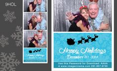 9HOL Up on the roof top click-click-click. Send your guests off with this simple and elegant holiday graphic. #photobooth  imagecinema.com