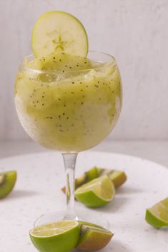 Love this icy apple, lime & kiwi drink. The perfect refreshing summertime drink for days at the pool 😎 Lime Drinks, Cold Drinks, How To Halve A Recipe, Non Alcoholic Drinks, Cocktails, Wine Slushies, Sweet Lime, Summertime Drinks, Frozen Strawberries