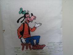 Detalhe da pintura de um dos lados da bolsa: Pateta