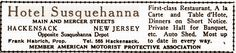Hotel Susquehanna ~ 179 Main St. display ad in 1918 Automobile Blue Book