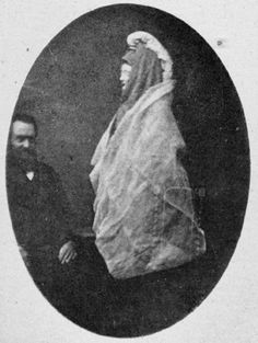Spirit photograph by Georgiana Houghton, 1882