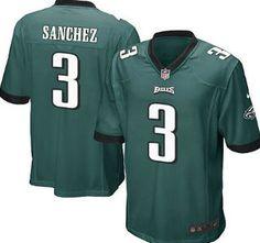 Nike Philadelphia Eagles Jersey 3 Mark Sanchez Dark Green Game Youth Jerseys