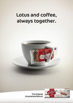 Lotus cookies Ads, tea's friend
