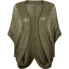 New Look Apricot Khaki Crochet Cardigan
