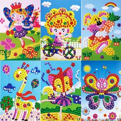 DIY Puzzles 3D Diamond Pasted Kawaii Cartoon Character Children's Educational Toys Kids Foam Mosaic Stickers Art Puzzle Kids Toy