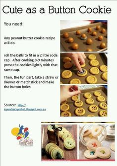 Cute as a button cookies
