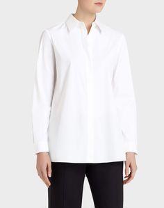 655abb3211d53c Italian Stretch Cotton Adara Blouse - White Shirt Shop - Collection   Lafayette  148 New York