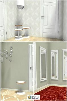 Interior Design Tip: Create groups! From mirrors to lamps - corners are great places to try out groups of furnishings and add visual interest to your rooms. Find the right grouping for YOUR space with RoomSketcher Home Designer- www.roomsketcher.com/homedesigner  #hallwayidea #interiordesign #homedesign