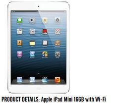 #Apple #IPad Mini 16GB with #WiFi only at Rs.13,999 ( Selling price: Rs.18,498) Click  @  http://goo.gl/Zev3MQ