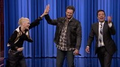 Jimmy's lip sync battle with Gwen Stefani and Blake Shelton on the Tonight Show.