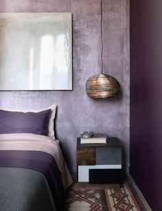 Excellent No Cost purple bedroom ideas Thoughts As it is often good to start out the revolutionary calendar year with very simple room refreshes all over the . lila Excellent No Cost purple bedroom ideas Thoughts Purple Bedroom Walls, Dark Purple Bedrooms, Purple Bedroom Design, Purple Interior, Gray Bedroom, Bedroom Ideas Purple, Room Interior, Luxury Interior, Dark Purple Walls