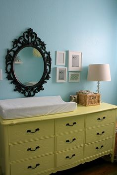 Dresser/Changing Table (However I would move things up further, that mirror could be a hazard once the baby starts grabbing at things)