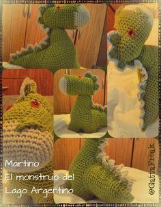 Martino, mi monstruo del Lago Argentino. @GattaFreak #crochet