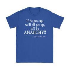 BREAKFAST CLUB ANARCHY Quote Women's T-Shirt - Gildan Womens T-Shirt / Royal Blue / L