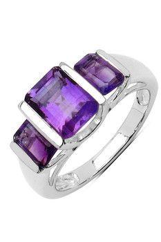 Olivia Leone Tiered Radiant Amethyst Ring