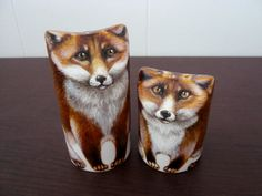 Made to order. Foxes Salt and pepper shakers Hand by LanaArkhi