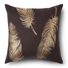 Metallic Feather Throw Pillow - Threshold – Threshold™ $19.99