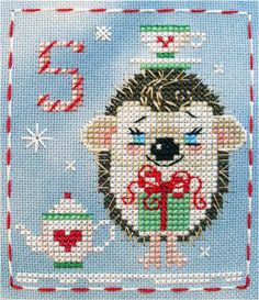 It's Hattie Hedgehog, #5 in the Brooke's Books Advent Animals Freebies Collection by Brooke Nolan
