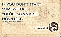 Start somewhere, send questions to info@sancarloscrossfit.com