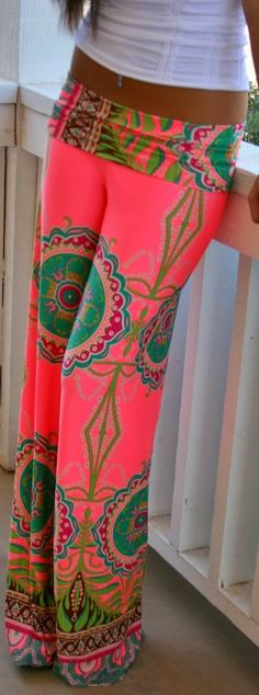 Colorful palazzo pant fashion style