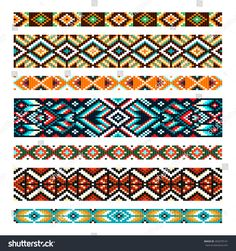 Find Beading Design Tribal Design Tribal Beads stock images in HD and millions of other royalty-free stock photos, illustrations and vectors in the Shutterstock collection. Loom Bracelet Patterns, Seed Bead Patterns, Bead Loom Bracelets, Beaded Jewelry Patterns, Beading Patterns, Stitch Patterns, Loom Bands, Embroidery Bracelets, African Beads